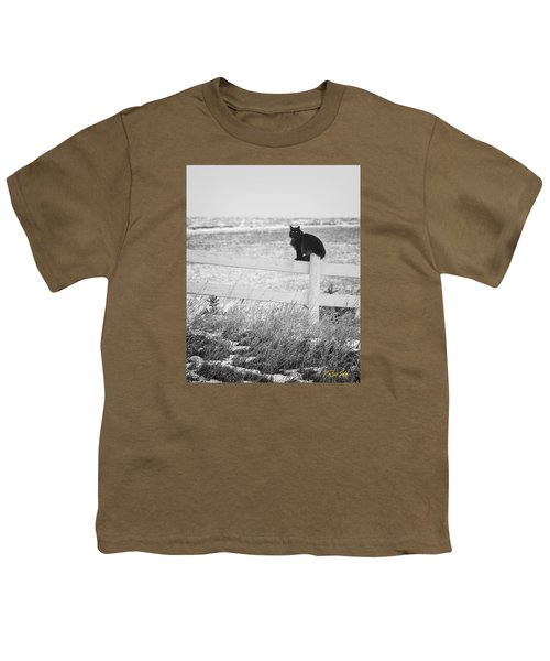 Youth T-Shirt featuring the photograph Winter's Stalker by Rikk Flohr