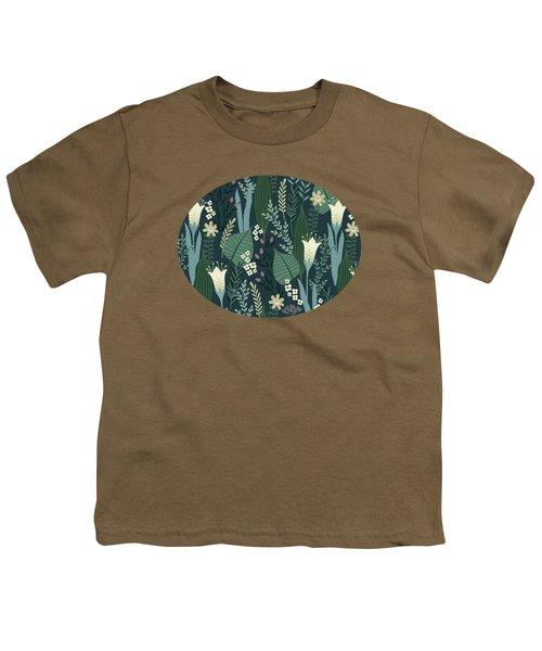 Wonderful Mid Century Style Garden Patten  Youth T-Shirt