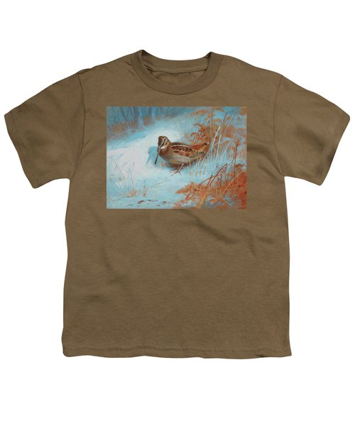 A Woodcock In The Snow Youth T-Shirt
