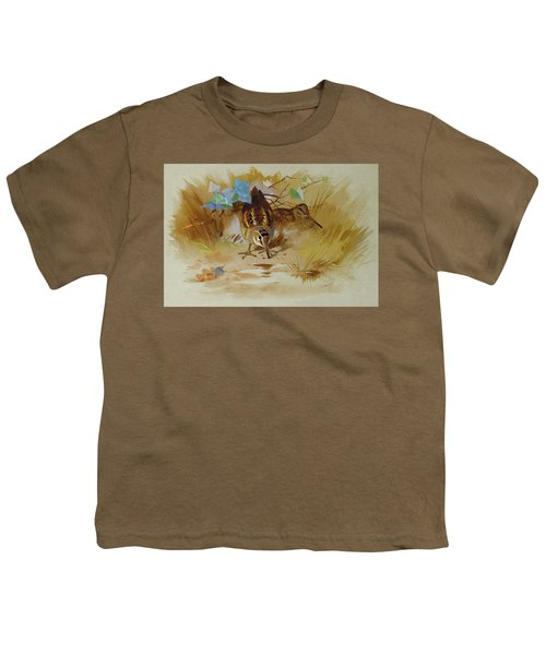 Woodcock In A Sandy Hollow By Thorburn Youth T-Shirt