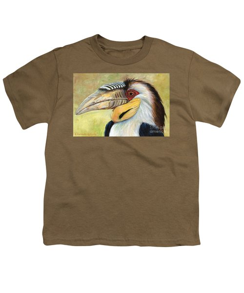 Wreathed Hornbill  Youth T-Shirt