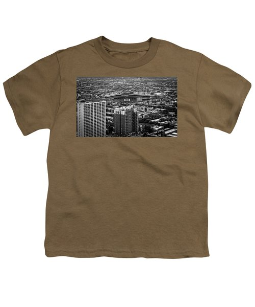 Wrigley Field Park Place Towers Day Bw Dsc4575 Youth T-Shirt by Raymond Kunst