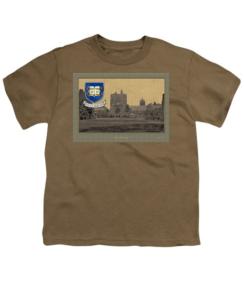 Yale University Building With Crest Youth T-Shirt