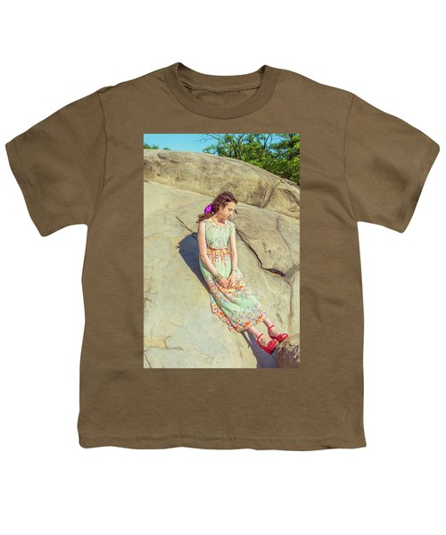 Young American Woman Summer Fashion In New York Youth T-Shirt