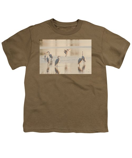 Ballet Of The Egrets Youth T-Shirt