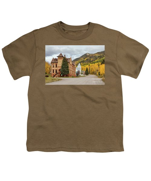 Youth T-Shirt featuring the photograph Beautiful Small Town Rico Colorado by James BO Insogna