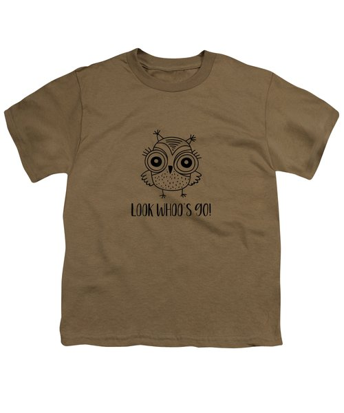 Womens 90th Birthday Gift Look Whoos 90 Funny Owl T-shirt Youth T-Shirt