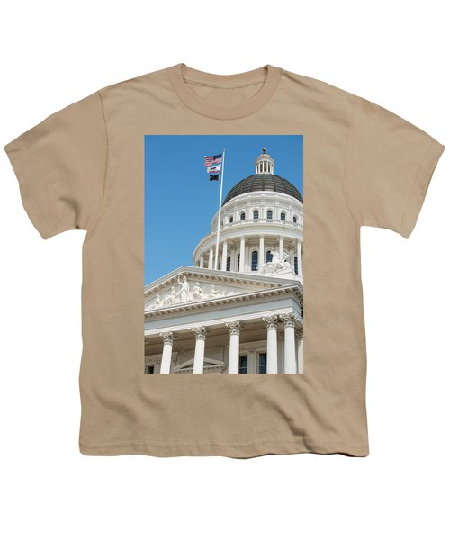 California State Capitol In Sacramento Youth T-Shirt