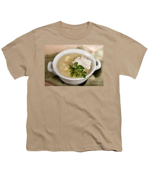 Cauliflower Soup Youth T-Shirt by Iris Richardson