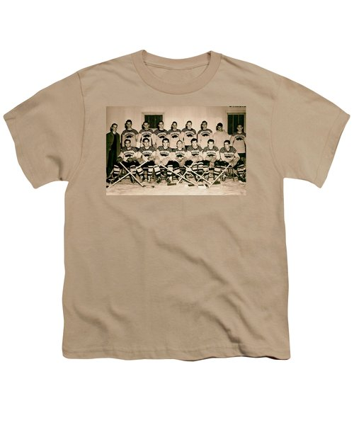 University Of Michigan Hockey Team 1947 Youth T-Shirt by Mountain Dreams