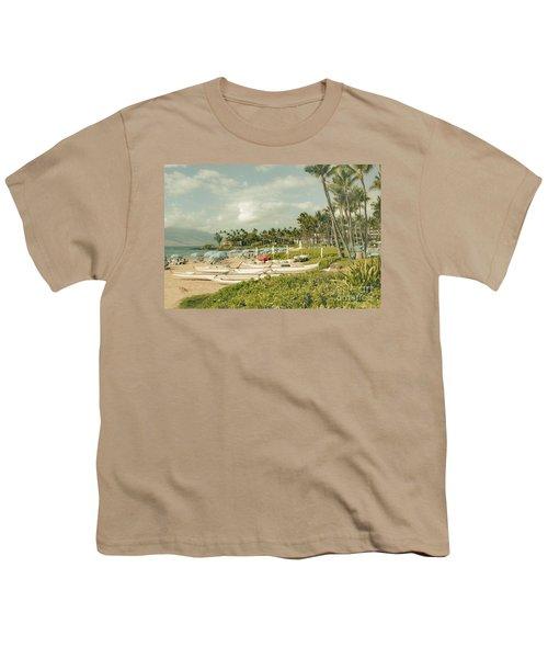 Wailea Beach Maui Hawaii Youth T-Shirt by Sharon Mau