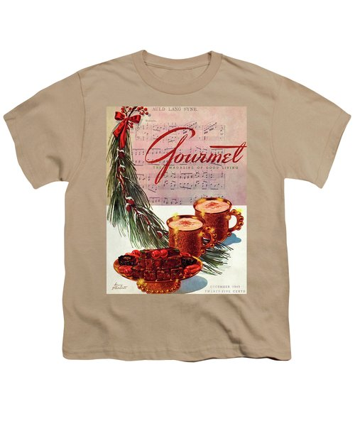 A Christmas Gourmet Cover Youth T-Shirt