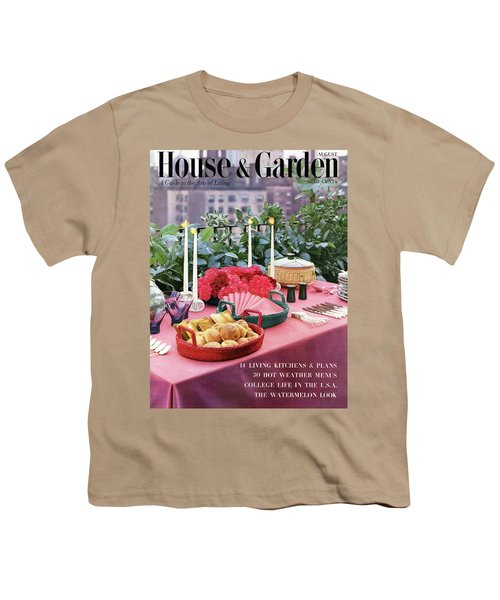 A House And Garden Cover Of Al Fresco Dining Youth T-Shirt