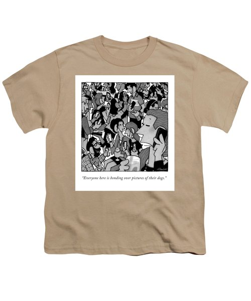 A Woman At A Party Youth T-Shirt