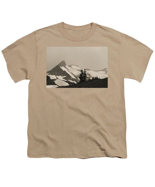 Youth T-Shirt featuring the photograph Fog In Mountains by Yulia Kazansky