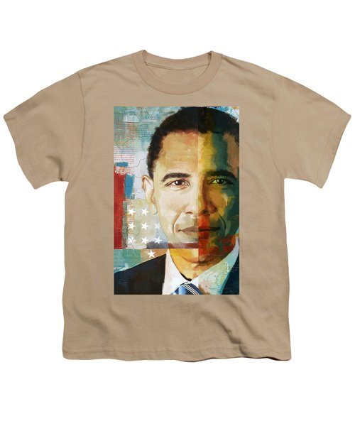 Barack Obama Youth T-Shirt by Corporate Art Task Force