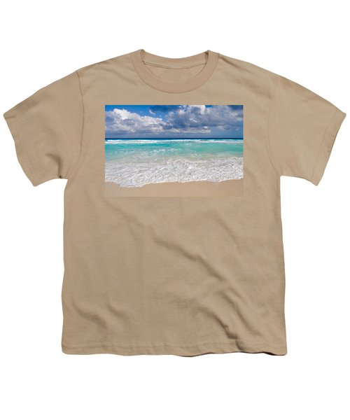 Beautiful Beach Ocean In Cancun Mexico Youth T-Shirt