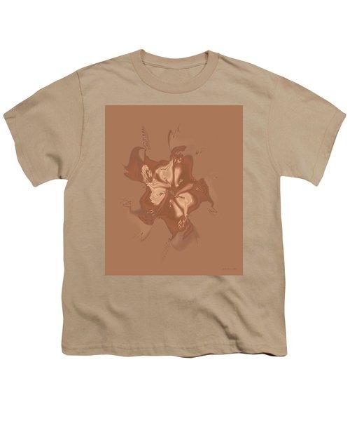 Beige Satin Morning Glory Youth T-Shirt