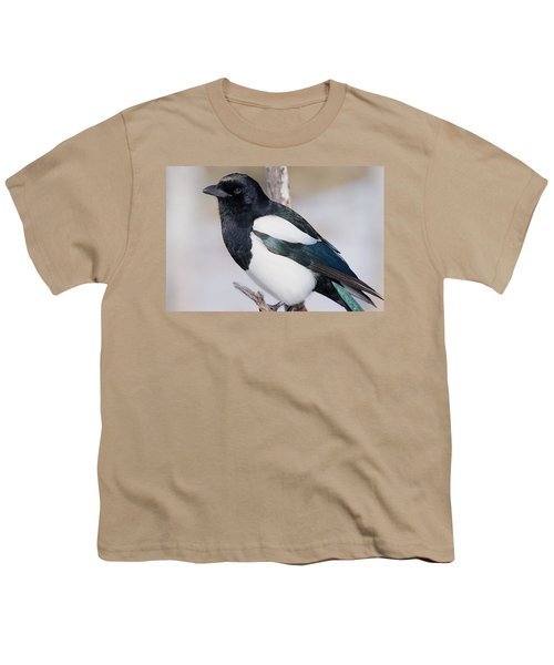 Black-billed Magpie Youth T-Shirt