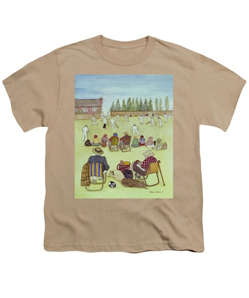 Cricket On The Green, 1987 Watercolour On Paper Youth T-Shirt by Gillian Lawson