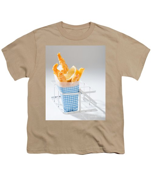 Fish And Chips Youth T-Shirt by Amanda Elwell