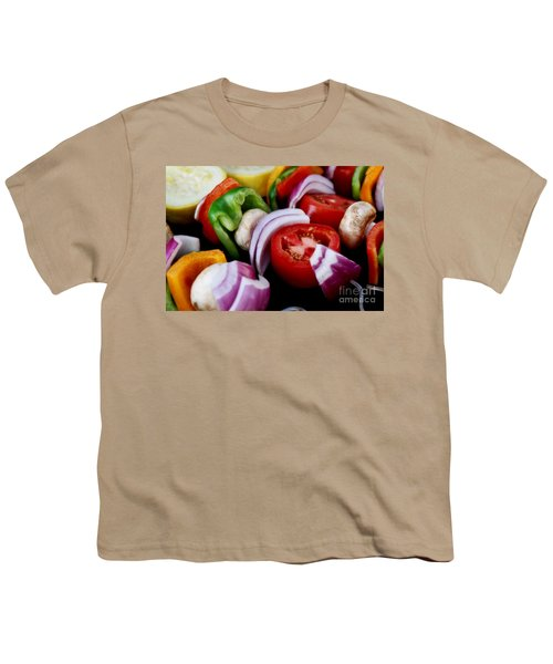 Fresh Veggie Kabobs On The Grill Youth T-Shirt
