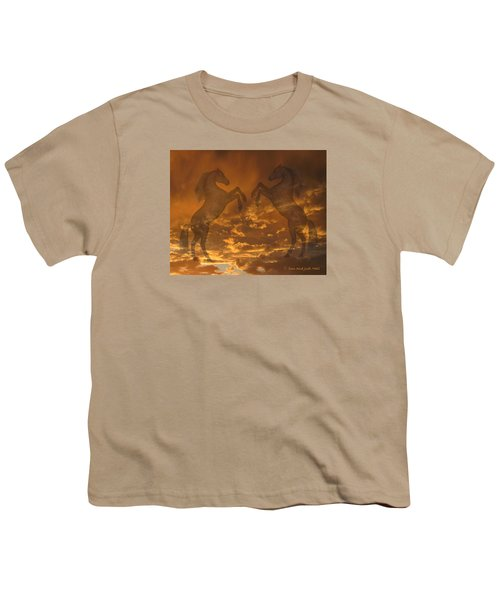Ghost Horses At Sunset Youth T-Shirt