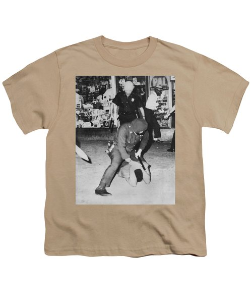 Harlem Race Riots Youth T-Shirt by Underwood Archives