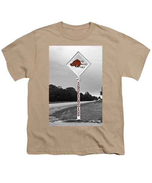 Hog Sign - Selective Color Youth T-Shirt