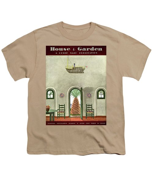 House And Garden Interior Decoration Number Cover Youth T-Shirt