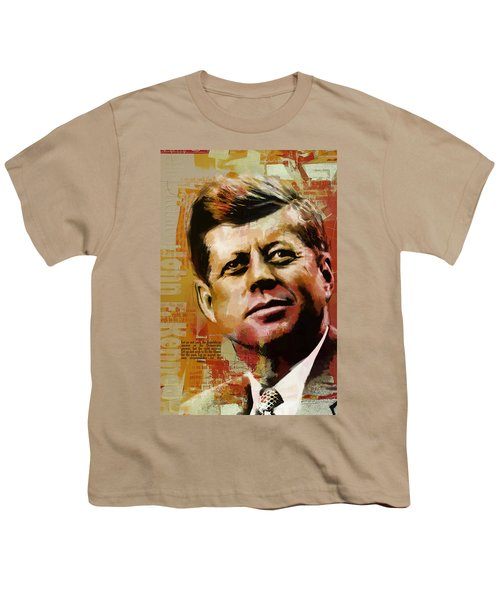 John F. Kennedy Youth T-Shirt by Corporate Art Task Force