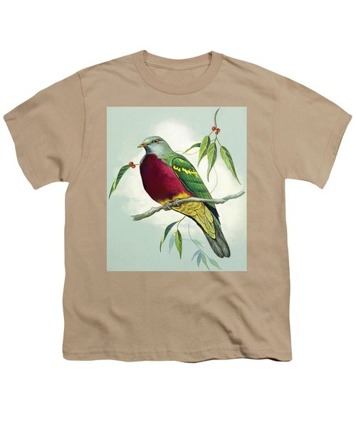 Magnificent Fruit Pigeon Youth T-Shirt by Bert Illoss