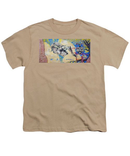 Minotaur Youth T-Shirt by Derrick Higgins
