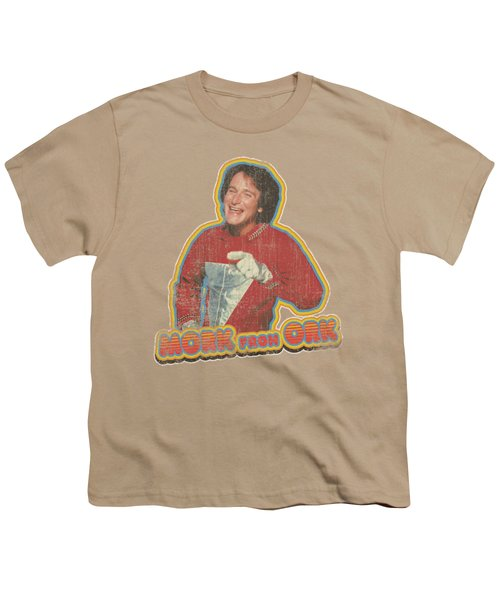Mork And Mindy - Mork Iron On Youth T-Shirt