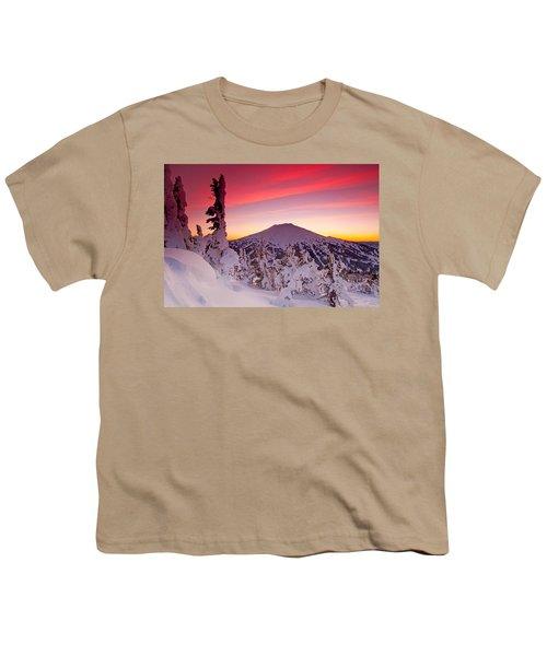 Mt. Bachelor Winter Twilight Youth T-Shirt