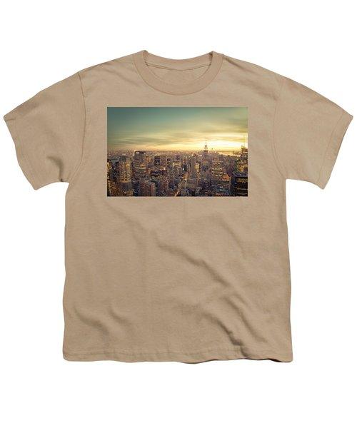 New York City - Skyline At Sunset Youth T-Shirt