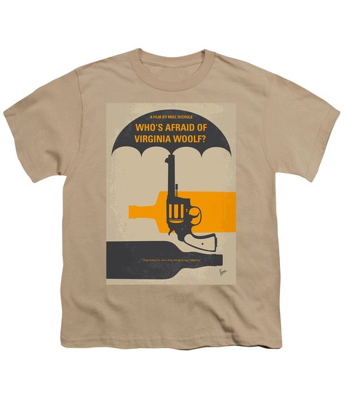 No426 My Whos Afraid Of Virginia Woolf Minimal Movie Poster Youth T-Shirt by Chungkong Art