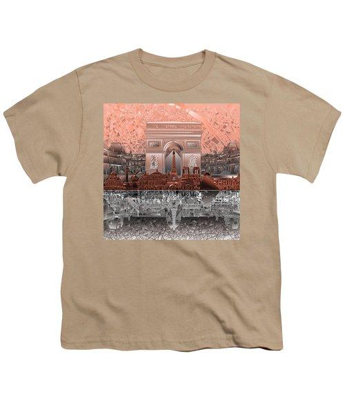 Paris Skyline Landmarks 2 Youth T-Shirt