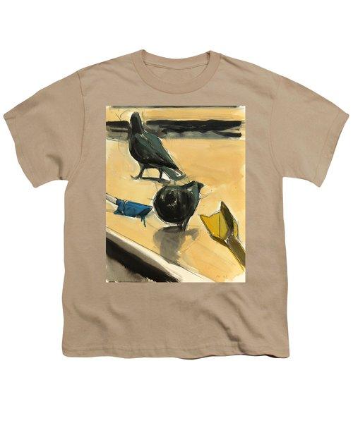 Pigeons Youth T-Shirt by Daniel Clarke