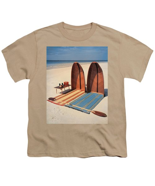 Pixie Collapsible Boat On The Beach Youth T-Shirt