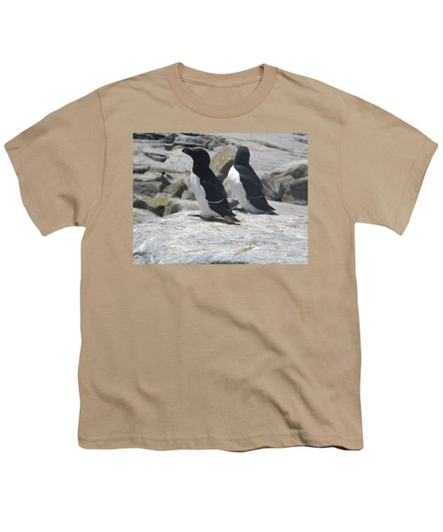 Razorbills 2 Youth T-Shirt by James Petersen
