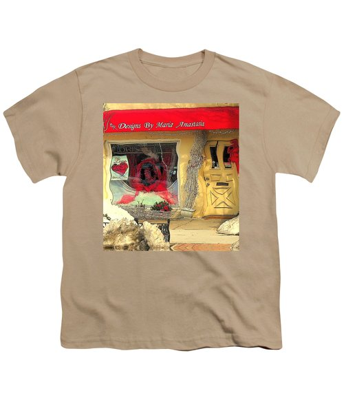 Rouge On The Rue Youth T-Shirt by Tami Quigley