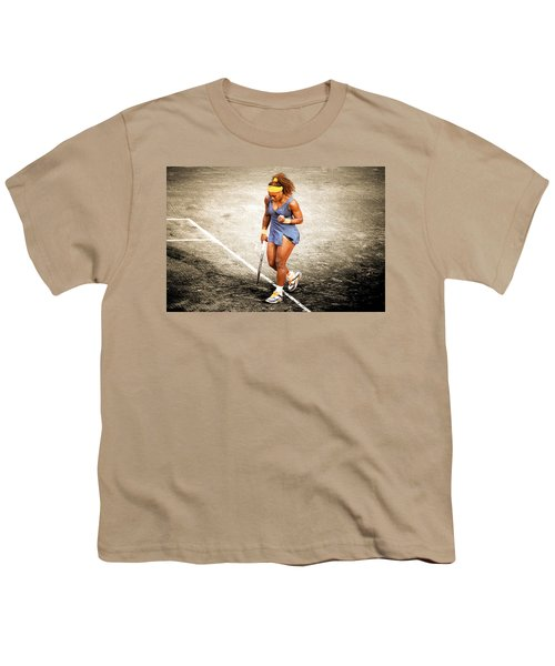 Serena Williams Count It Youth T-Shirt by Brian Reaves