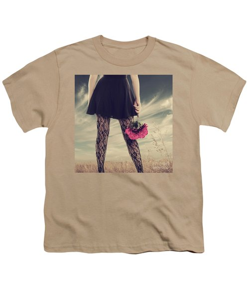 Youth T-Shirt featuring the digital art She's Got Legs by Linda Lees