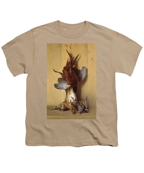 Still Life With A Hare, A Pheasant And A Red Partridge Youth T-Shirt