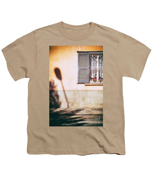 Youth T-Shirt featuring the photograph Street Lamp Shadow And Window by Silvia Ganora