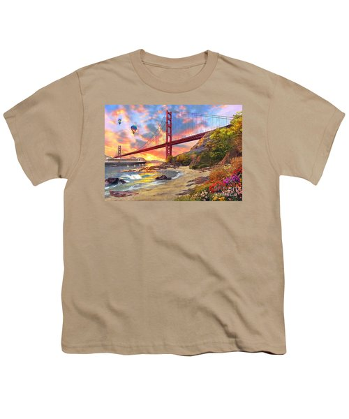 Sunset At Golden Gate Youth T-Shirt