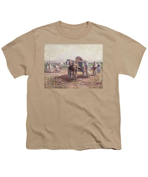 The Potato Pickers Youth T-Shirt by Harry Fidler