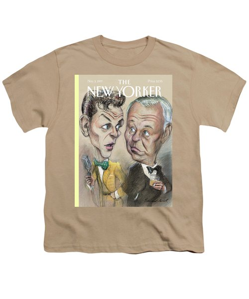 The Young Frank Sinatra Looking At The Old Frank Youth T-Shirt