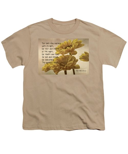 Thoughts Of Gratitude Youth T-Shirt